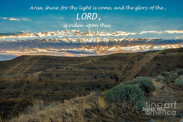 Scripture Photograph - Light Of The Lord by Robert Bales