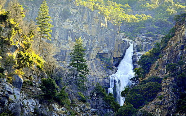 Photograph - Light On Feather Falls by AJ  Schibig