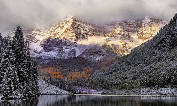 Fourteener Photograph - Light On Maroon Bells by Jerry Fornarotto