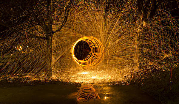 Steel Wool Photograph - Light Painting by Inge Riis McDonald