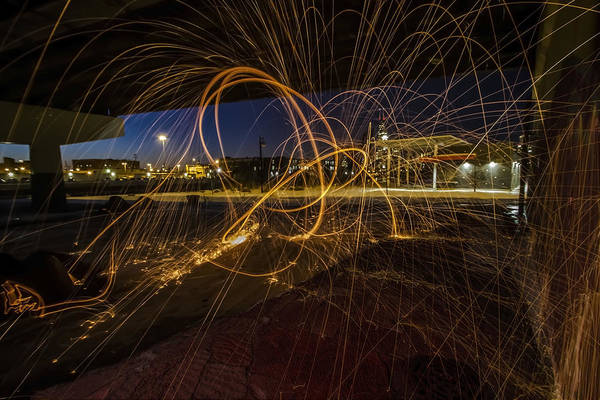 Photograph - Light Painting Under A Bridge by Sven Brogren