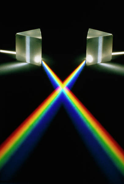 Optics Photograph - Light Passing Through Prism by David Parker/science Photo Library