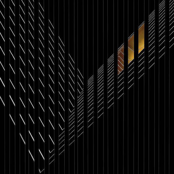 Stripe Photograph - Light Rail by Gilbert Claes