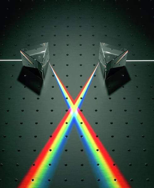 Beam Of Light Photograph - Light Refraction by David Parker/science Photo Library