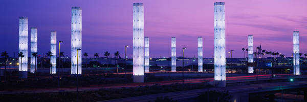 Lax Photograph - Light Sculptures Lit Up At Night, Lax by Panoramic Images