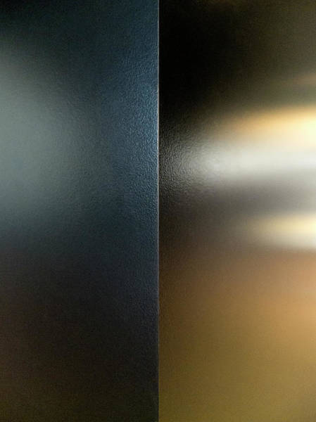 Vertical Abstract Photograph - Light Shining Through Frosted Glass by Ralf Hiemisch