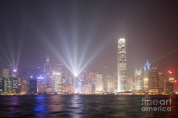 Wall Art - Photograph - Light Show In Hong Kong by Matteo Colombo