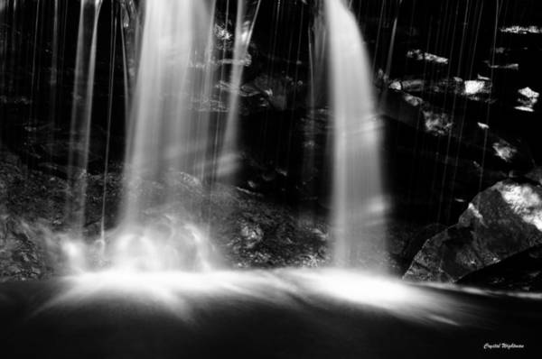 Photograph - Sun Shines On A Waterfall by Crystal Wightman