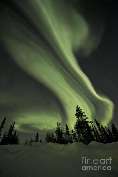 Kanada Wall Art - Photograph - Light Swirls Over The Midnight Dome by Priska Wettstein