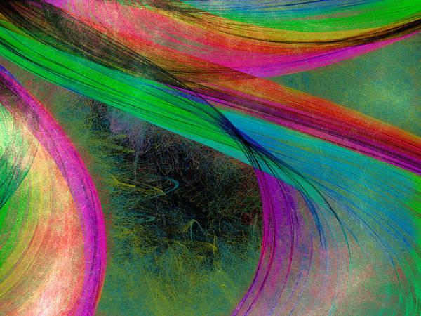 Digital Art - Light Swirls by Rick Wicker