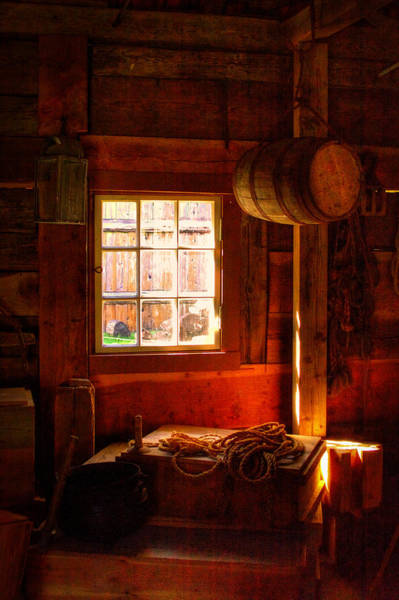 Photograph - Light Through The Barn Window by David Patterson