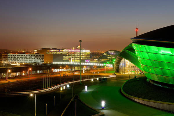 Photograph - Light Trails At The Exhibition Centre by Stephen Taylor