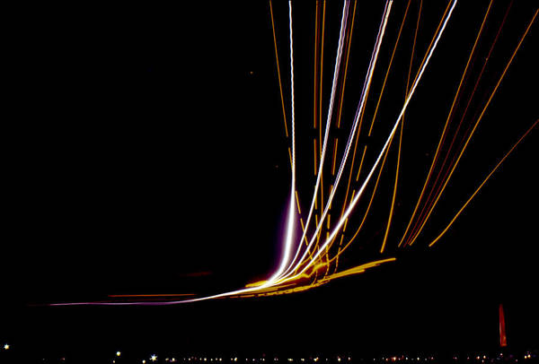 Photograph - Light Trails At Washington National Airport by Greg Reed