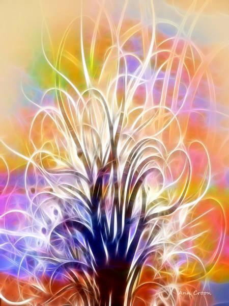 Wall Art - Digital Art - Light Tree by Ann Croon