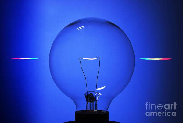 Photograph - Lightbulb Seen Through Diffraction by GIPhotoStock