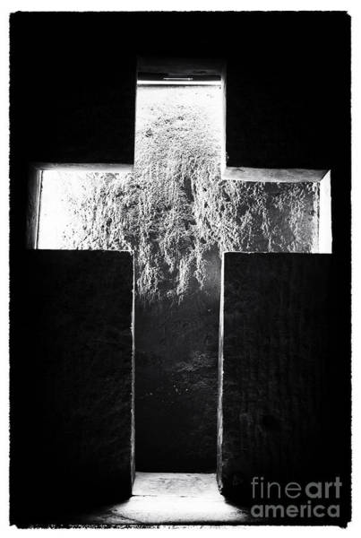 Photograph - Lighted Cross In The Salt Mine by John Rizzuto