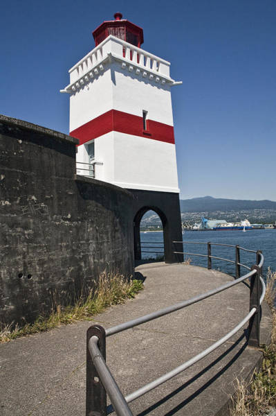 Photograph - Lighthead By The Harbor At Stanley Park In Vancouver  by Randall Nyhof