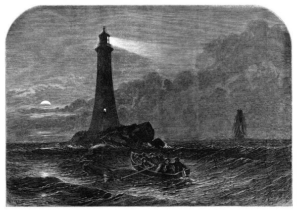 Wall Art - Painting - Lighthouse, 1856 by Granger