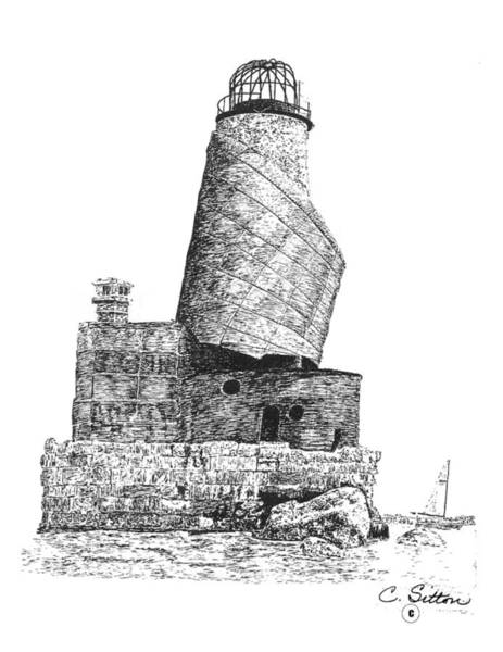 Drawing - Lighthouse 2 by C Sitton