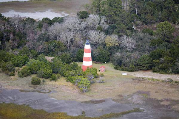 Jekyll Island Photograph - Lighthouse Aerial Near Jekyll Island by Betsy Knapp