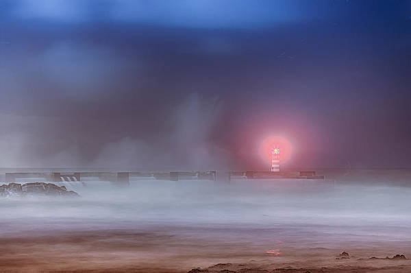 Photograph - Lighthouse And Big Waves by Bruno Rosa
