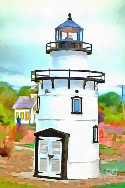 Photograph - Lighthouse At Old Saybrook Point by Edward Fielding