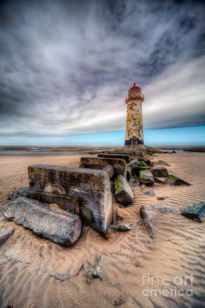 Photograph - Lighthouse At Talacre  by Adrian Evans