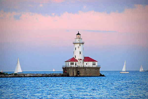 Photograph - Lighthouse At The Navy Pier by Lynn Bauer