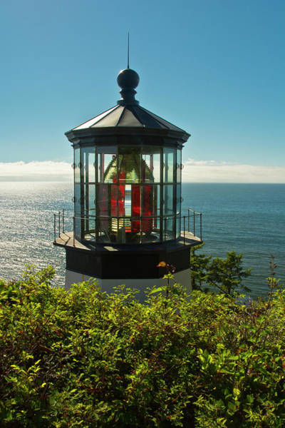 Wall Art - Photograph - Lighthouse, Cape Meares State Park by Michel Hersen