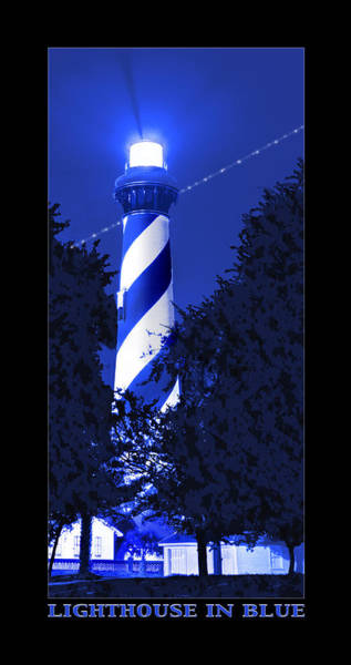 St Augustine Photograph - Lighthouse In Blue by Mike McGlothlen