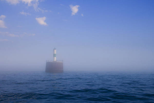 Marine Layer Photograph - Lighthouse In Fog by Alexey Stiop