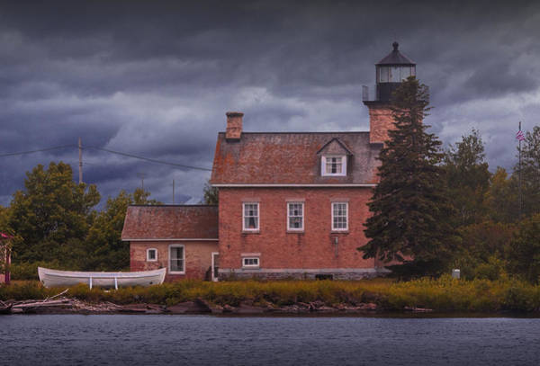 Photograph - Lighthouse In Ontonagon Michigan by Randall Nyhof