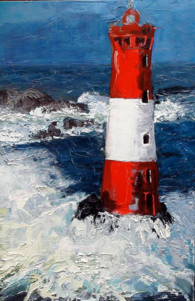 Painting - Lighthouse Keeper by Gaye White