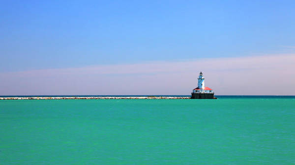 Photograph - Lighthouse Lake Michigan Horizon by Patrick Malon