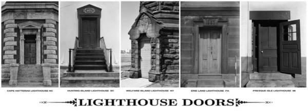 Hunting Island Lighthouse Wall Art - Photograph - Lighthouse Doors by Daniel Hagerman