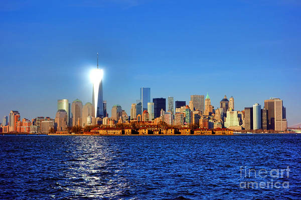 Lower Manhattan Photograph - Lighthouse Manhattan by Olivier Le Queinec