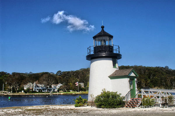 Conn Wall Art - Photograph - Lighthouse Mystic Seaport by Tom Gari Gallery-Three-Photography