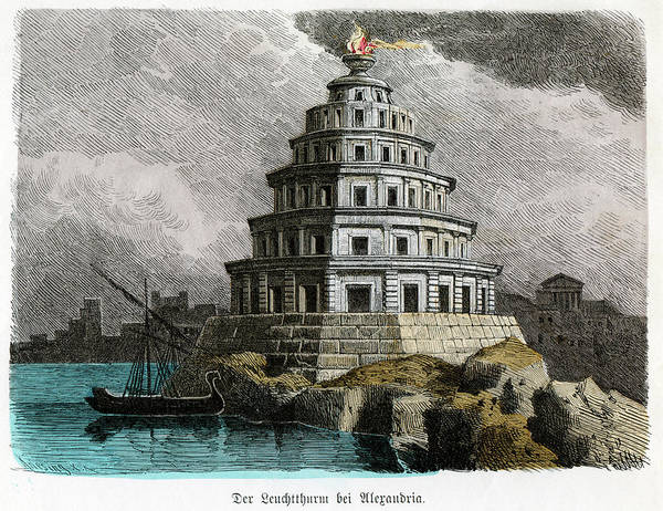 Wonders Of The World Photograph - Lighthouse Of Alexandria by Cci Archives