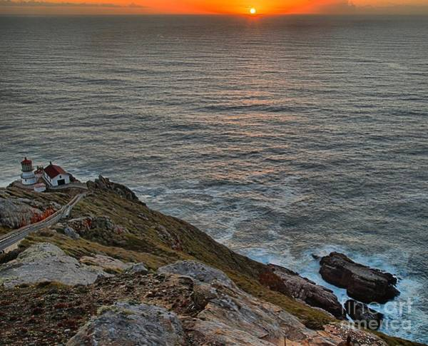 Photograph - Lighthouse On A Cliff by Adam Jewell