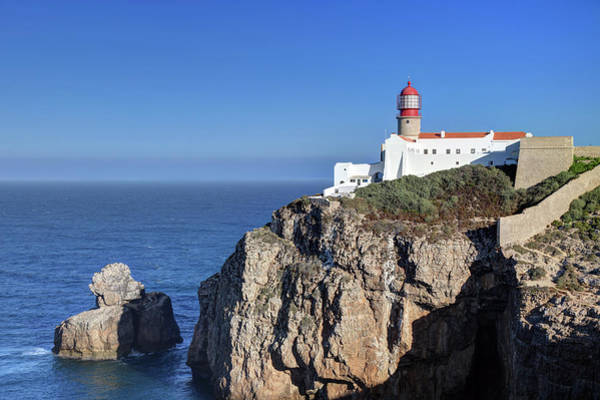 Sagre Wall Art - Photograph - Lighthouse On Cape St. Vincent by Vuk8691