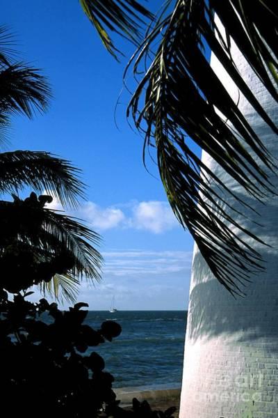 Digital Art - Lighthouse On Key Biscayne In Florida by William Kuta