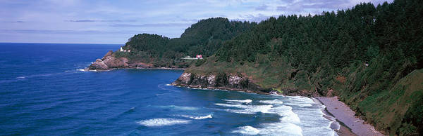 Heceta Head Lighthouse Photograph - Lighthouse On The Coast, Heceta Head by Panoramic Images