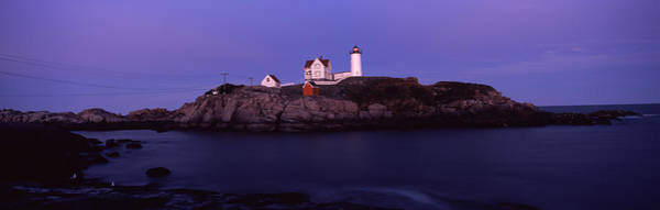 Peacefulness Photograph - Lighthouse On The Coast, Nubble by Panoramic Images