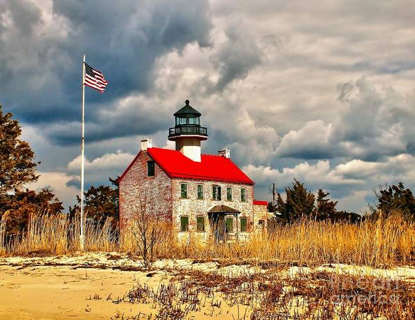 Photograph - Lighthouse On The Delaware by Nick Zelinsky
