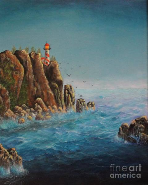 Painting - Lighthouse Point by Bob Williams