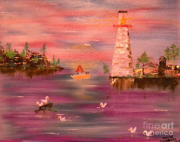 Painting - Lighthouse Serenade by Denise Tomasura