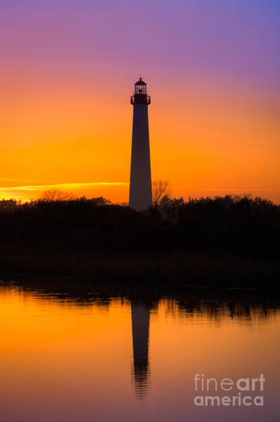 Cape May Lighthouse Photograph - Lighthouse Silhouette by Michael Ver Sprill
