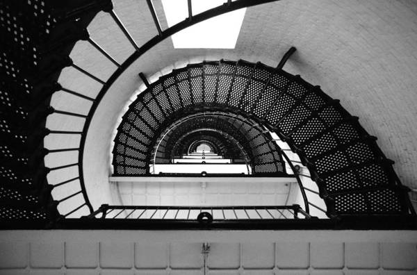 Photograph - Lighthouse Spiral by Beverly Stapleton
