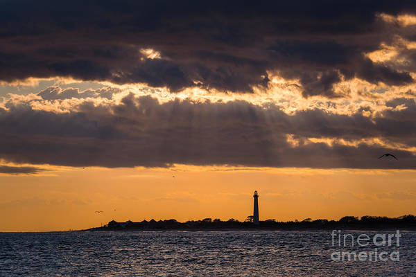 Cape May Lighthouse Photograph - Lighthouse Sun Rays by Michael Ver Sprill