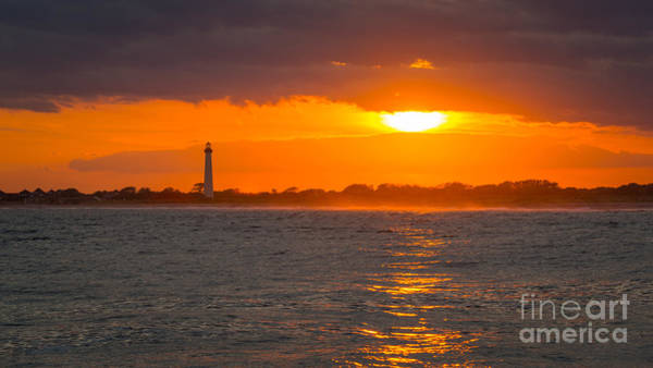 Cape May Wall Art - Photograph - Lighthouse Sun Reflections by Michael Ver Sprill